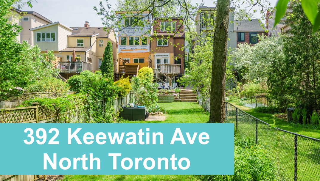 Backing on Sherwood Park in North Toronto at 392 Keewatin Ave